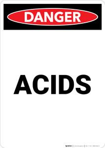Acids - Portrait Wall Sign