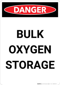 Bulk Oxygen Storage - Portrait Wall Sign
