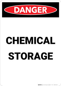 Chemical Storage - Portrait Wall Sign