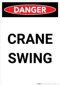 Crane Swing - Portrait Wall Sign