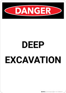 Deep Excavation - Portrait Wall Sign