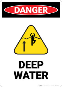 Deep Water with Icon - Portrait Wall Sign