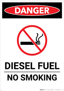 Diesel Fuel No Smoking - Portrait Wall Sign