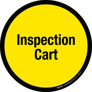Inspection Cart Floor Sign