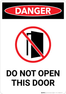 Do Not Open This Door with Icon - Portrait Wall Sign