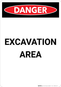 Excavation Area - Portrait Wall Sign