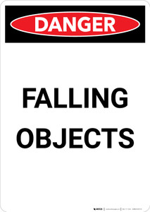 Falling Objects - Portrait Wall Sign