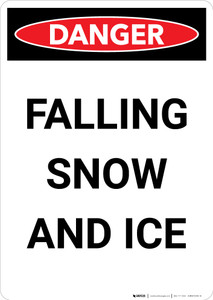 Falling Snow and Ice - Portrait Wall Sign