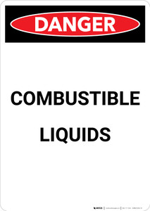 Flammable Explosive Liquids - Portrait Wall Sign