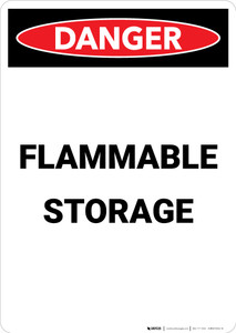 Flammable Storage - Portrait Wall Sign
