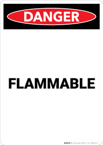 Flammable - Portrait Wall Sign