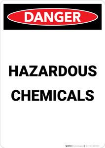 Hazardous Chemicals - Portrait Wall Sign