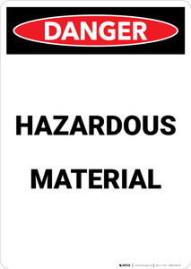 Hazardous Materials - Portrait Wall Sign