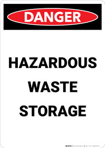 Hazardous Waste Storage - Portrait Wall Sign
