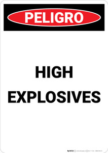 High Explosives - Portrait Wall Sign