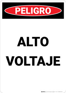High Voltage Spanish - Portrait Wall Sign