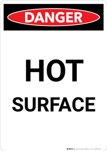 Hot Surface - Portrait Wall Sign