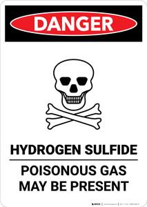 Hydrogen Sulfide - Poisonous Gas - Portrait Wall Sign