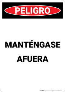 Keep Out (Spanish) - Portrait Wall Sign