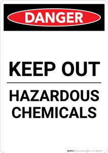 Keep Out - Hazardous Chemicals - Portrait Wall Sign