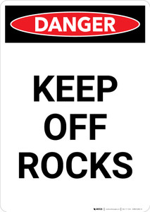 Keep Off Rocks - Portrait Wall Sign