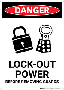 Lock Out for Safety - Portrait Wall Sign