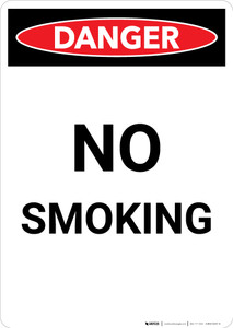 No Smoking - Portrait Wall Sign