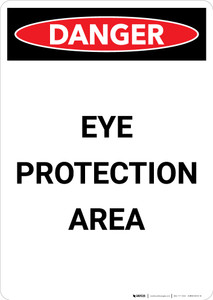 Pesticide Storage Area Sign With Icon - Portrait Wall Sign