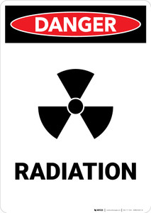 Radiation with Icon - Portrait Wall Sign