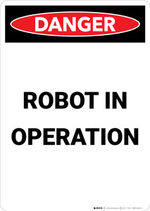 Robot in Operation - Portrait Wall Sign