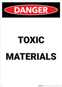 Toxic Materials - Portrait Wall Sign