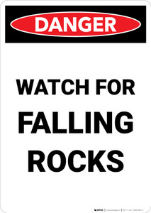 Watch for Falling Rocks - Portrait Wall Sign