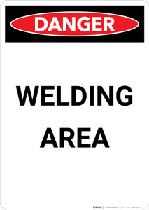 Welding Area - Portrait Wall Sign