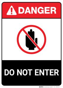 Do Not Enter ANSI - Portrait Wall Sign