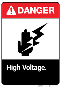 High Voltage ANSI - Portrait Wall Sign