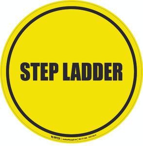 Step Ladder Floor Sign