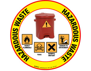 Pictogram Hazardous Waste Floor Sign