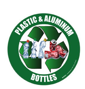 Recycle (Plastic & Aluminum Bottles) Floor Sign