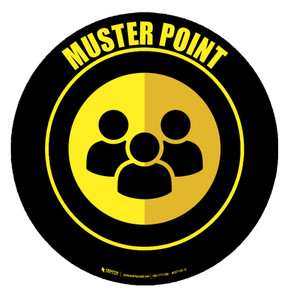 Muster Point Floor Sign