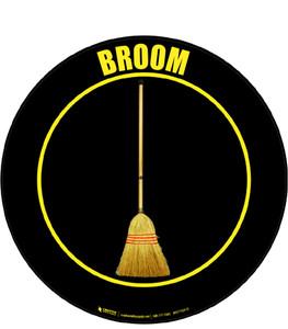 Broom Floor Sign