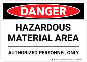 Danger: Hazardous Material Area Landscape