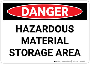 Danger: Hazardous Material Storage Area Landscape