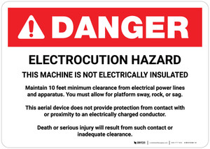 Danger: Electrocution Hazard Machine Is Not Electrically Insulated Landscape