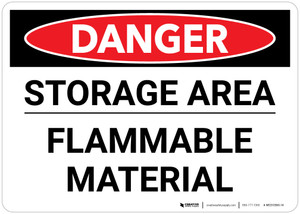 Danger: Storage Area Flammable Material Landscape