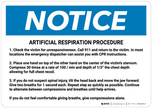 Notice: Artificial Respiration Procedure Landscape