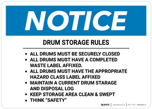 Notice: Drum Storage Rules Landscape