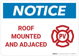 Notice: Roof Mounted and Adjaced - PV Landscape