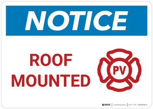 Notice: Roof Mounted - PV Landscape