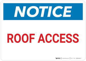 Notice: Roof Access Landscape