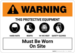 Warning: PPE Must be Worn on This Site Landscape